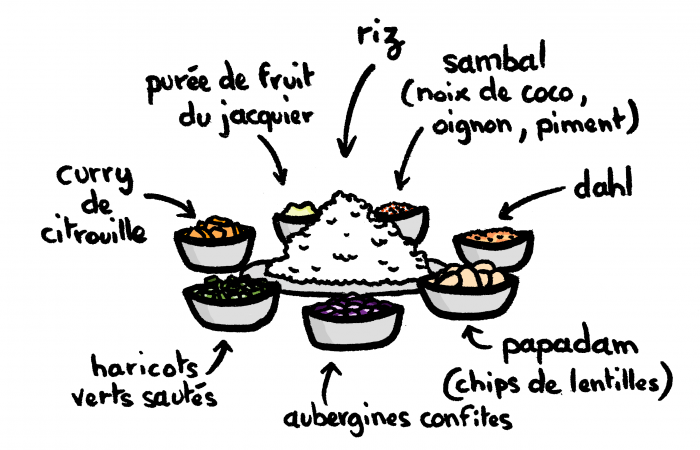 Dessin : Rice & Curry sri lankais
