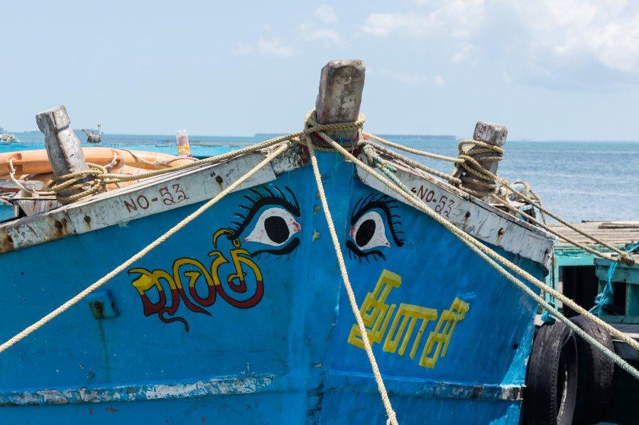 Barque au Sri Lanka