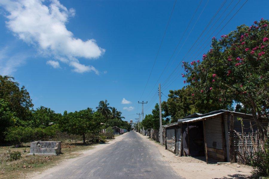 Route sur l'île Nainativu