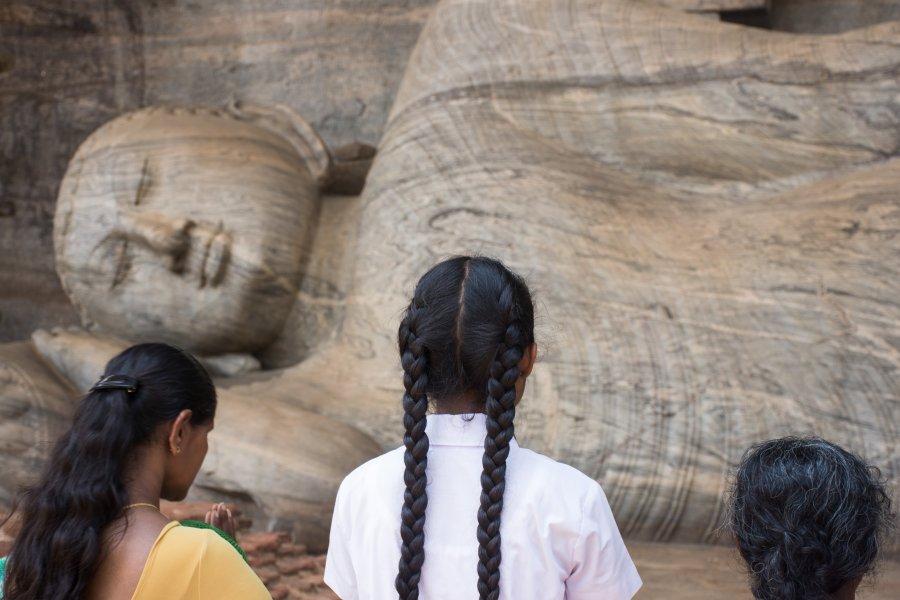 Bouddha couché, Polonnaruwa, Sri Lanka