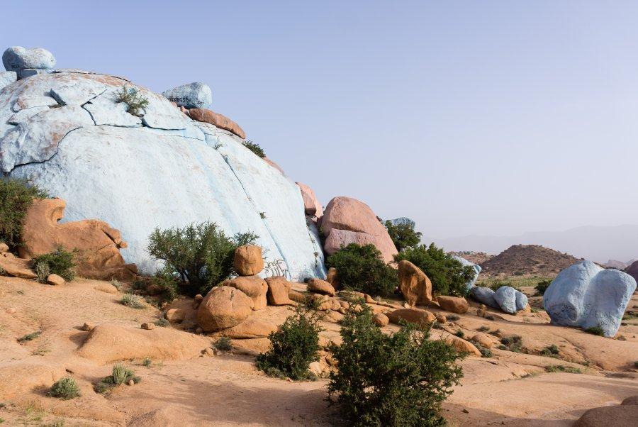 Rochers bleus de Tafraout, Maroc