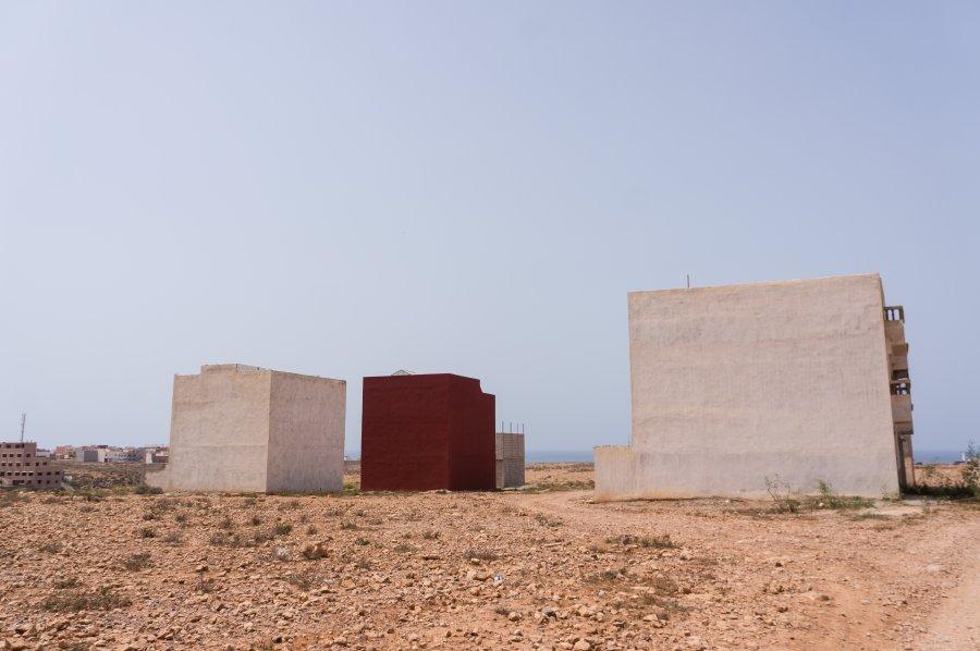Chemin vers la plage de Mirleft, Maroc
