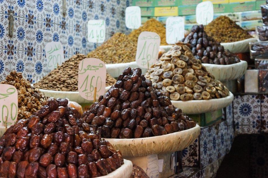 Fruits secs, Fès, Maroc