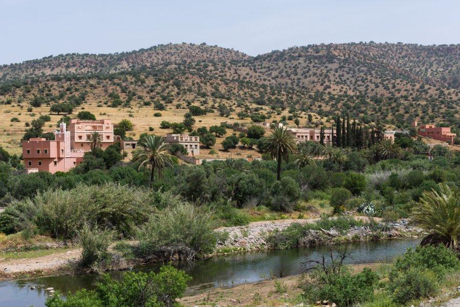 Route entre Agadir et Tafraout, Maroc