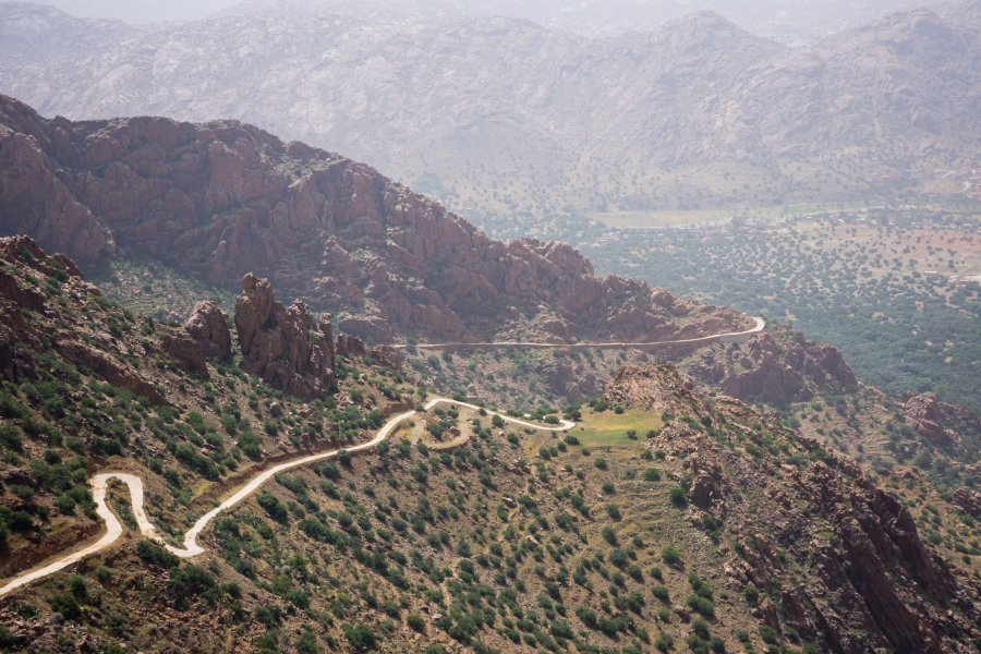 Route vers Tagdicht, Maroc