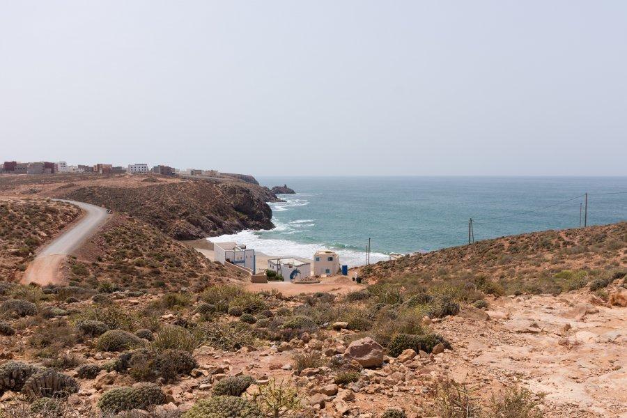 Plage d'Aftas à Mirleft, Maroc