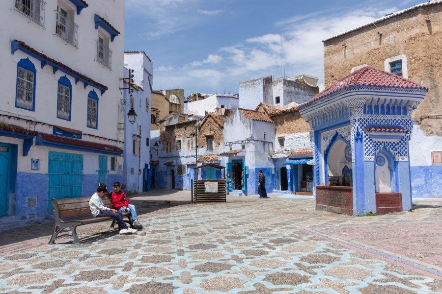 Place El Hauta, Chefchaouen, Maroc