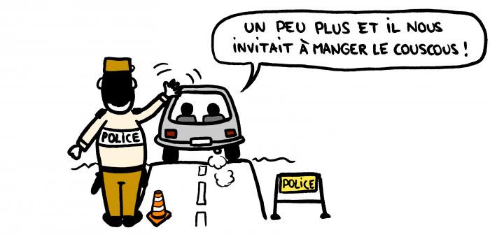 Dessin : Policier marocain sympathique