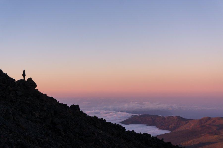Coucher de soleil depuis le Teide, Tenerife