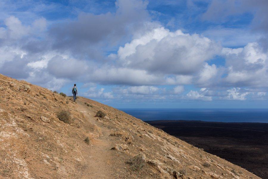 Randonnée dans la Caldera Blanca à Lanzarote