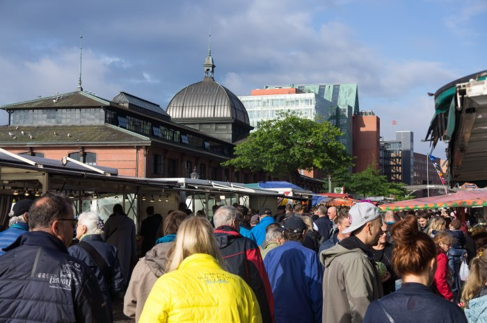 Marché à Hambourg