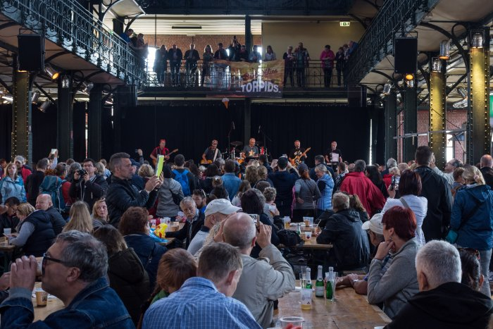 Concert au marché d'Hambourg