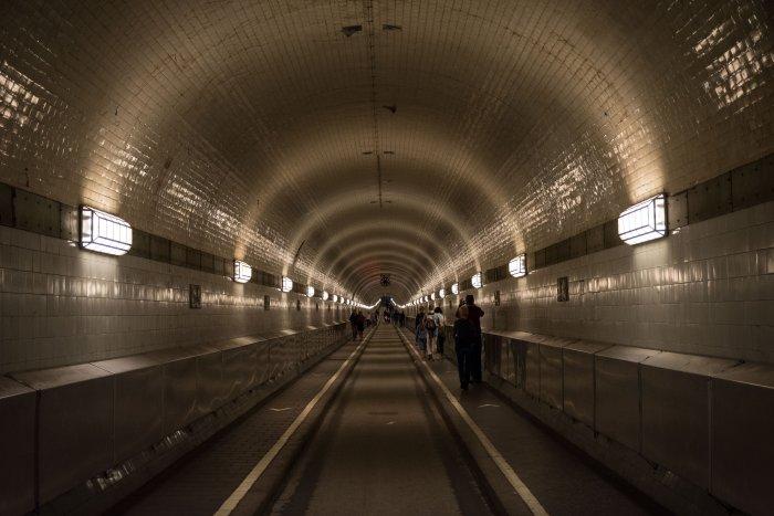 Tunnel piéton à Hambourg