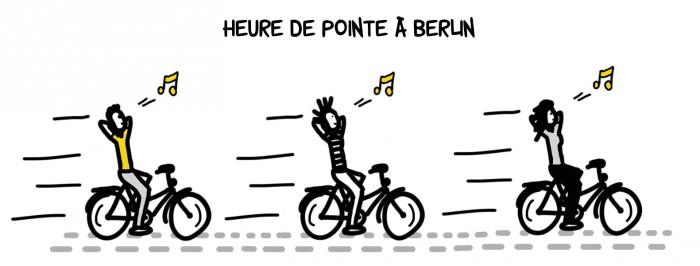 Heure de pointe à Berlin