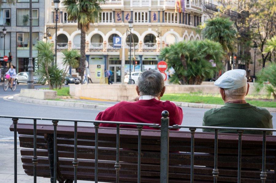Scène de rue à Valence, Espagne