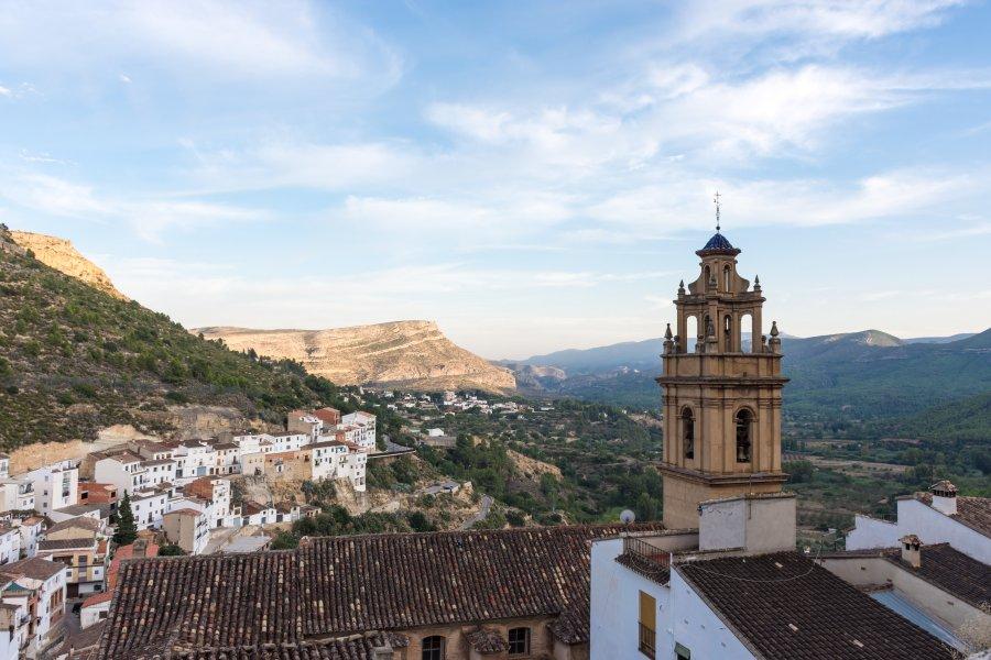 Coucher de soleil à Chulilla, Espagne