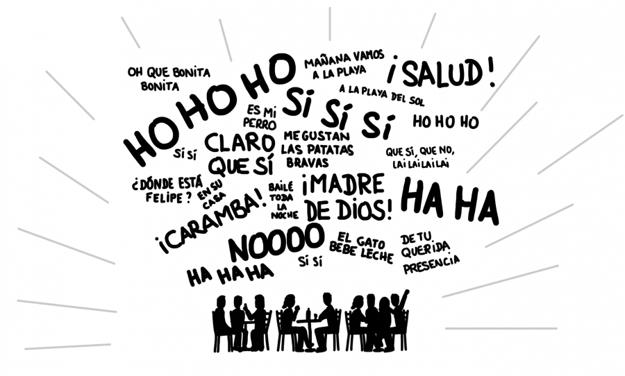Dessin : les espagnols sont bruyants en terrasse