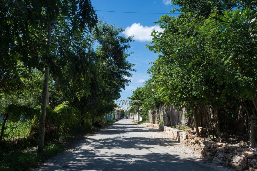 Village de Bacalar, Mexique
