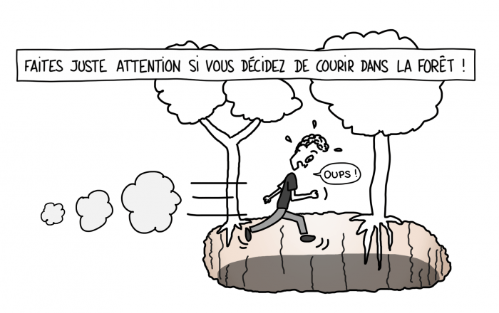 Dessin : Attention aux cénotes au Mexique