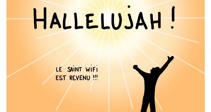 Dessin : Hallelujah le wifi est revenu !