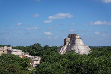 Temples Maya à Uxmal, Yucatán, Mexique