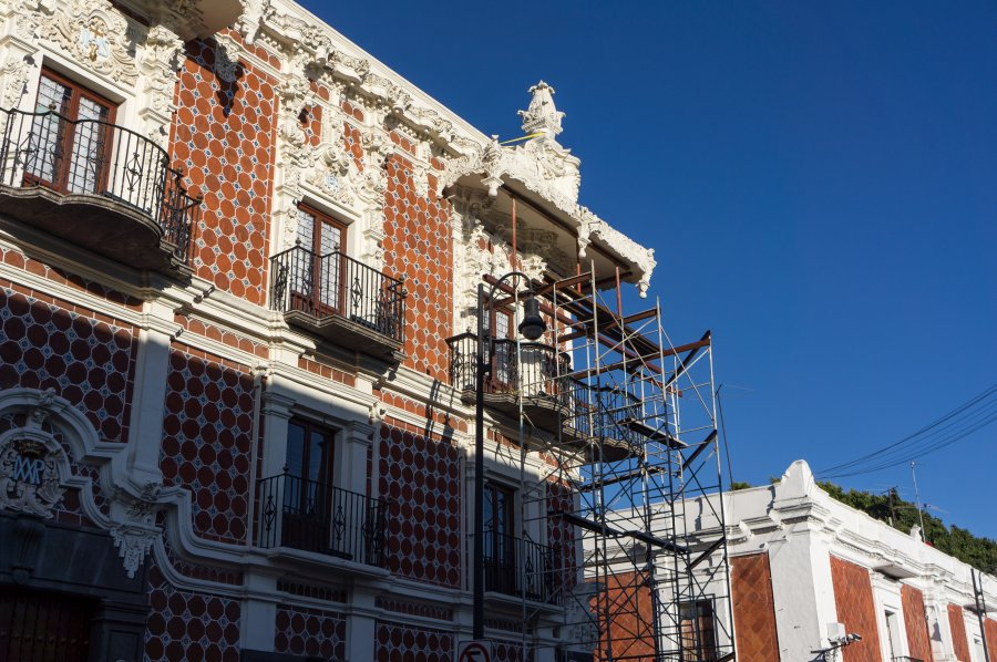 Reconstruction après le tremblement de terre de Puebla