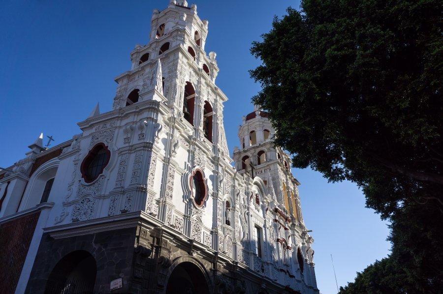 Église à Puebla, Mexique