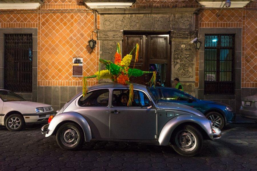 Coccinelle et piñata au Mexique