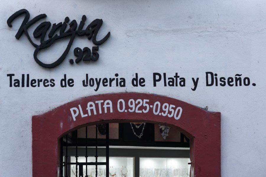 Vente de bijoux en argent à Taxco