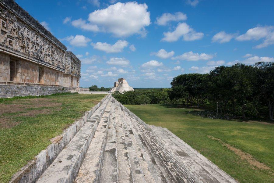 Temple d'Uxmal, Yucatán, Mexique