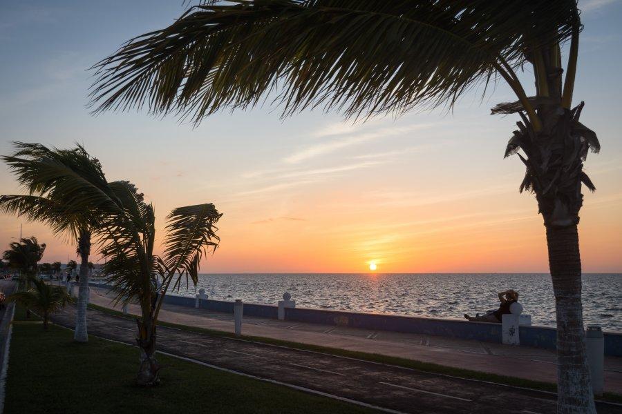 Coucher de soleil à Campeche
