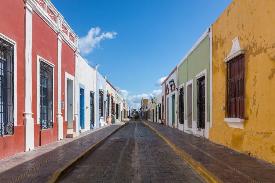 Rues de Campeche, Mexique