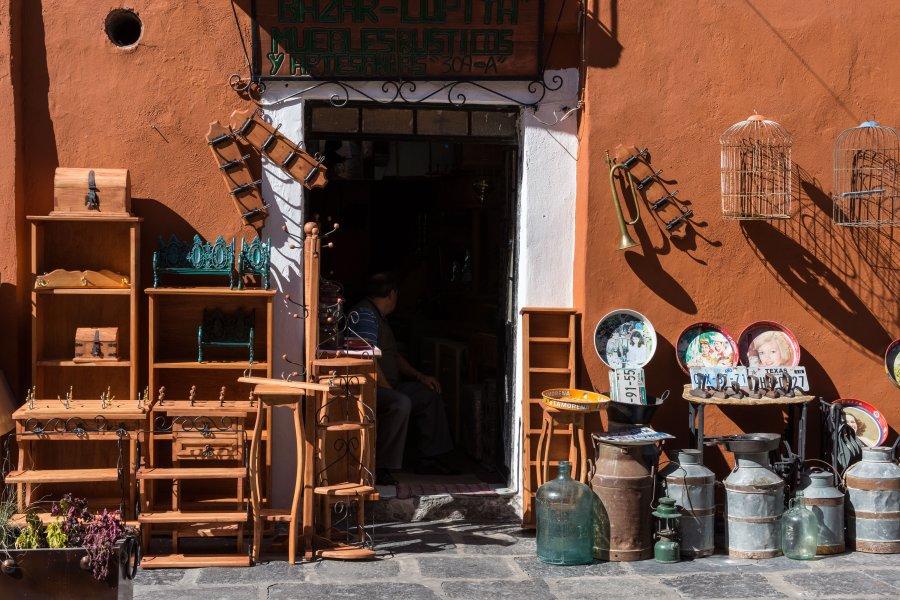 Brocante à Puebla, Mexique