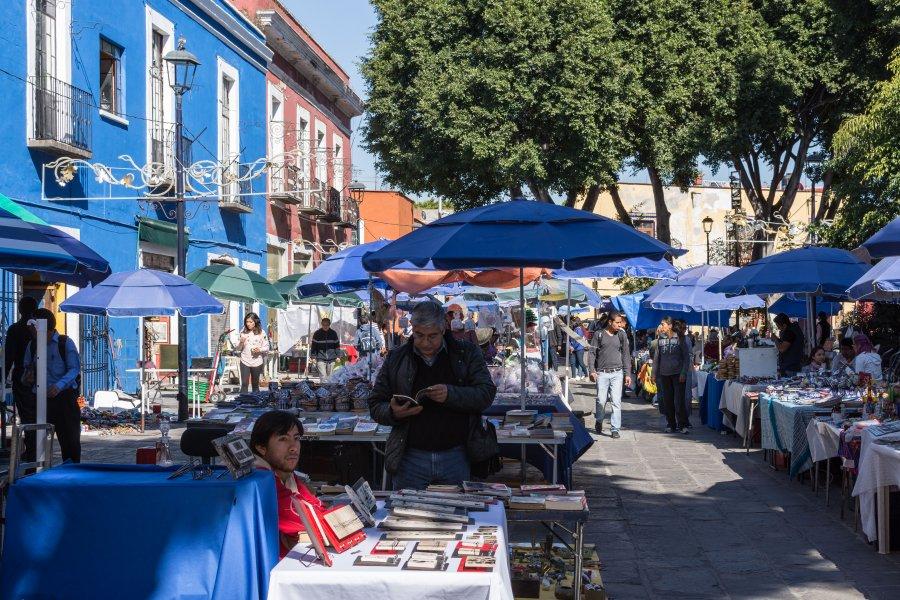 Marché aux puces à Puebla