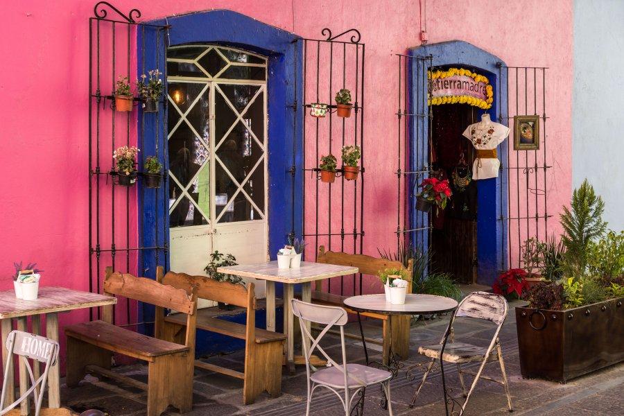 Terrasse de café à Puebla