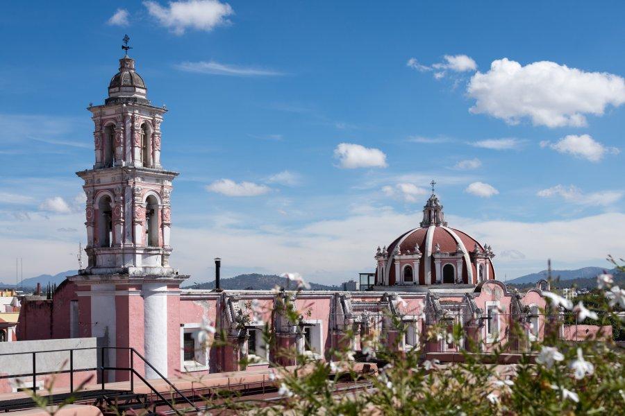 Vue depuis le musée Amparo, Puebla