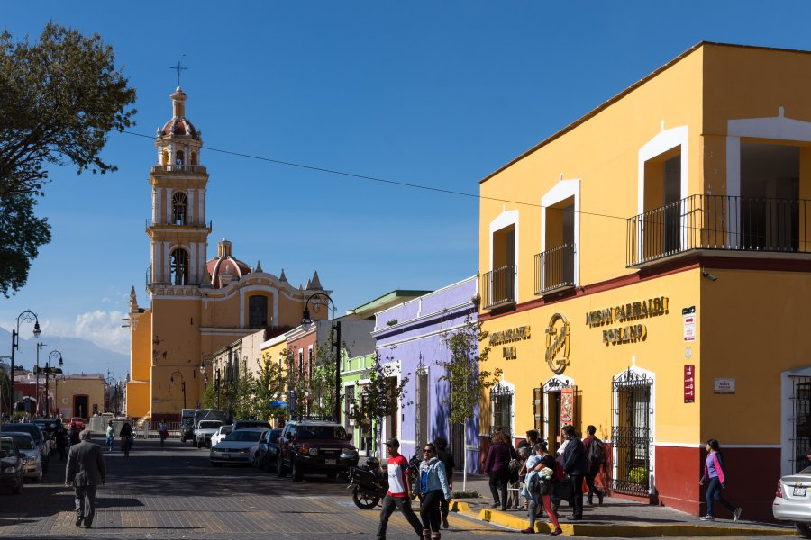 Village de Cholula, Puebla, Mexique