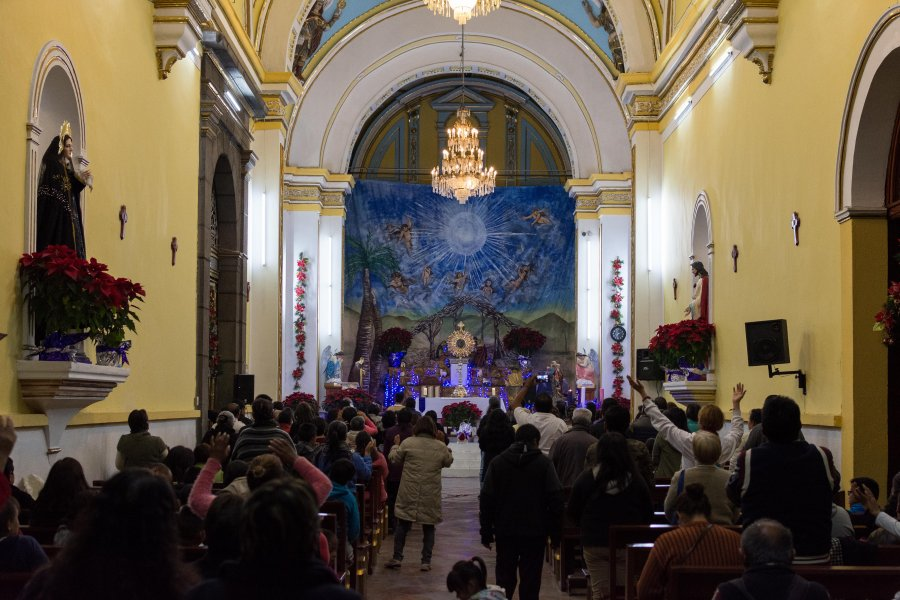 Messe joyeuse à Puebla, Mexique