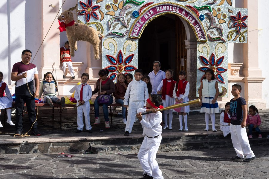 Piñatas au Mexique