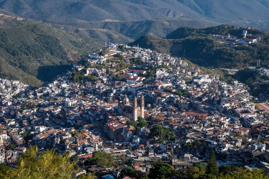 Vue panoramique sur Taxco, Mexique