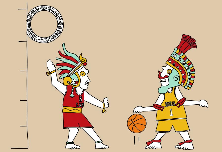 Dessin : le jeu de balle maya était-il en fait du basketball ?