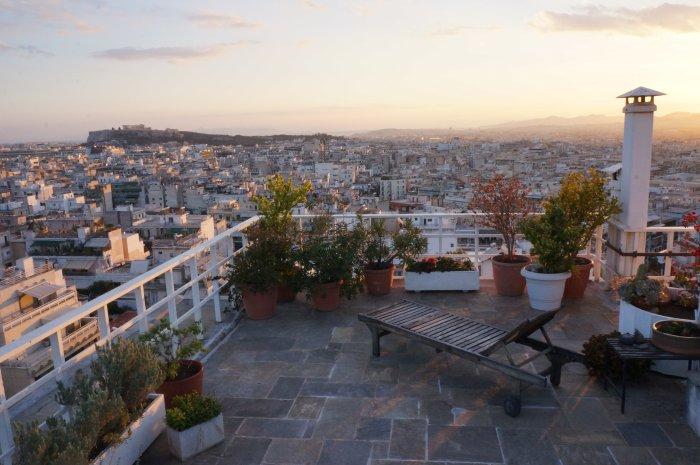 Terrasse à Athènes
