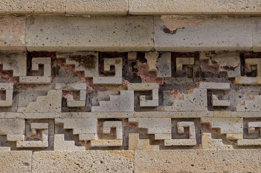 Détail de Mitla, Oaxaca, Mexique
