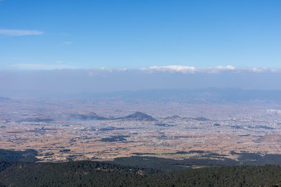 Ville de Toluca et pollution