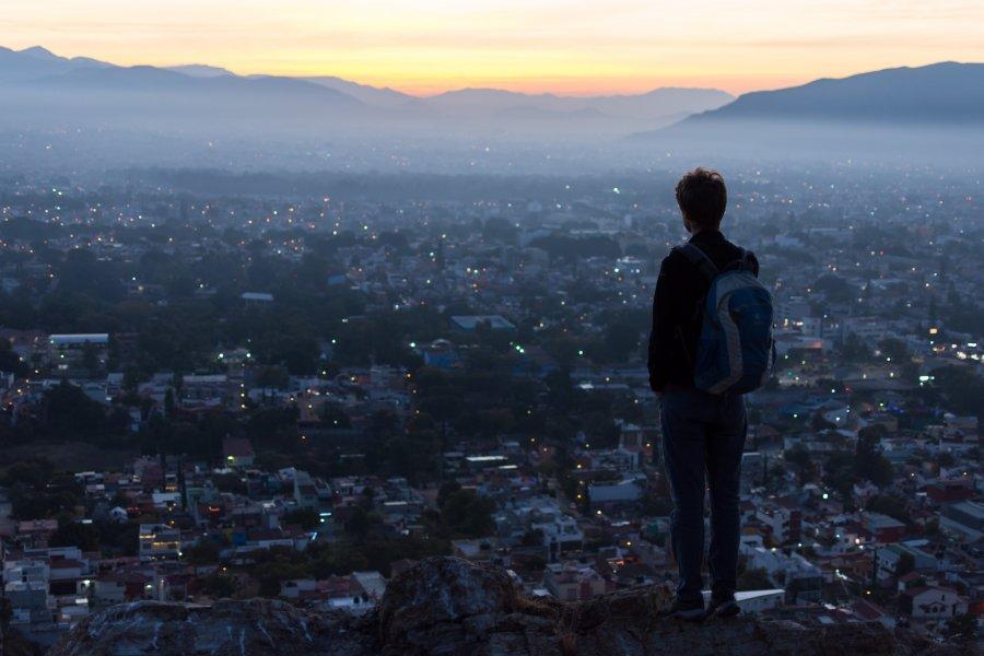 Lever de soleil sur Oaxaca, Mexique
