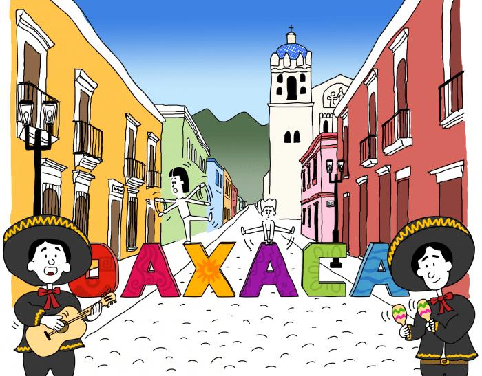 Dessin : Mi-fugue, mi-raison à Oaxaca