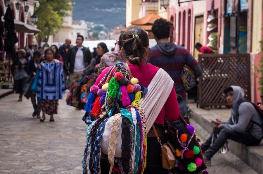 Vendeuse de rue à San Cristóbal de Las Casas