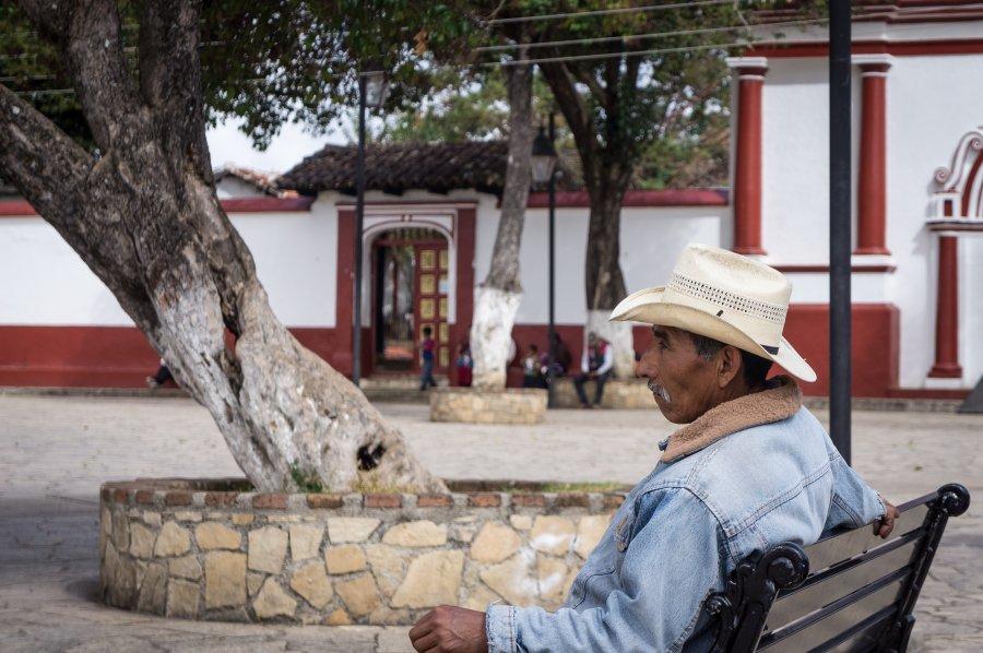 Scène de rue à San Cristóbal de Las Casas, Mexique