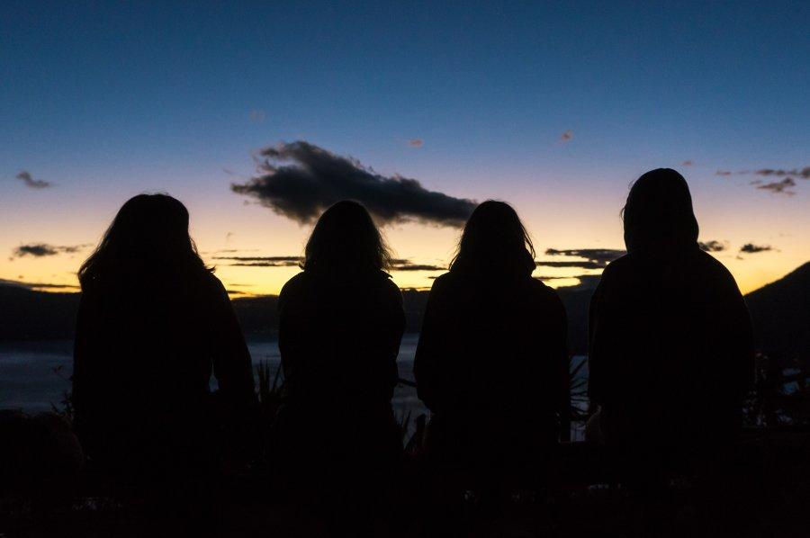 Lever de soleil sur le lac Atitlán