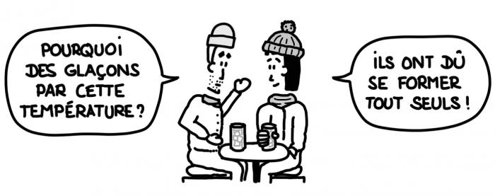 Dessin : pourquoi des glaçons alors qu'il fait déjà trop froid ?